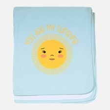 My Sunshine baby blanket