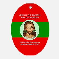 Season Hell Oval Ornament