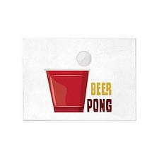 Beer Pong 5'x7'Area Rug