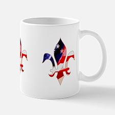 US Flag Fleur de lis Mug