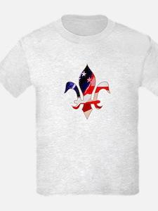 US Flag Fleur de lis T-Shirt