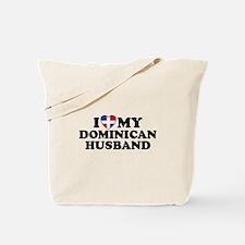 I Love My Dominican Husband Tote Bag