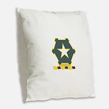 36 Infantry Regiment.psd.png Burlap Throw Pillow