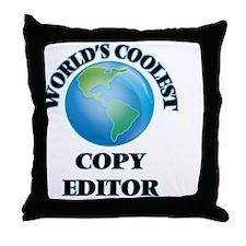 Copy Editor Throw Pillow