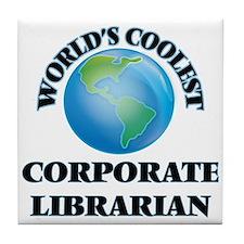 Corporate Librarian Tile Coaster