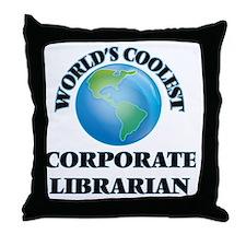 Corporate Librarian Throw Pillow