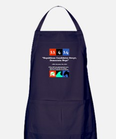 Funny Election results Apron (dark)
