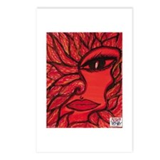 A red blazing woman flower wi Postcards (Package o