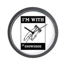 I'm With The Snowshoe Wall Clock