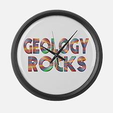 Geology Rocks Large Wall Clock