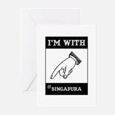 I'm With The Singapura Greeting Cards (Package of
