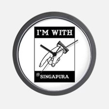 I'm With The Singapura Wall Clock