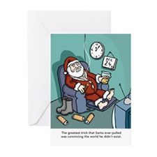 Santa Christmas Greeting Cards (Pk of 10)