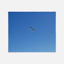 Coasting Seagull Throw Blanket