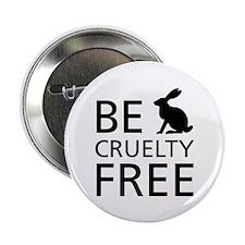 "Be Cruelty-Free Bunny Logo 2.25"" Button (10 P"