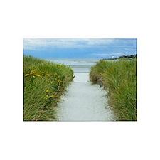 Beach Path to Lighthouse 5'x7'Area Rug