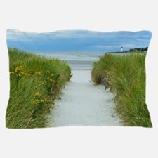 Beach Path to Lighthouse Pillow Case