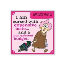 "Aunty Acid: Cursed with Exp Square Sticker 3"" x 3"""