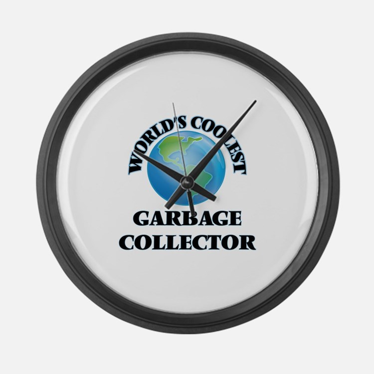 Garbage Collector Large Wall Clock