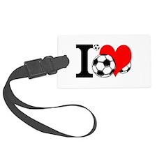 I Love Soccer Luggage Tag