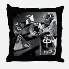 Black Gaming Dice Throw Pillow