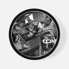 Black Gaming Dice Wall Clock