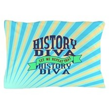 History Diva Pillow Case