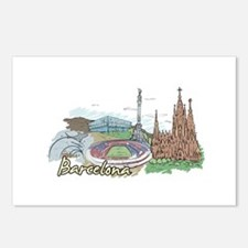 Cute Barcelona Postcards (Package of 8)