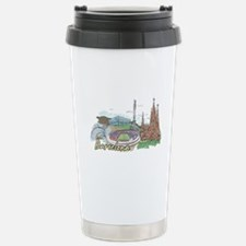 Cute Barcelona Travel Mug