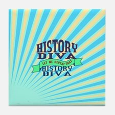 History Diva Tile Coaster