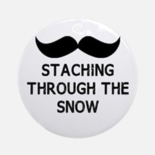 Staching Through the Snow Ornament (Round)