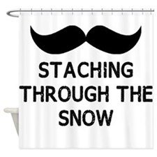 Staching Through the Snow Shower Curtain