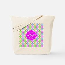 Pink Custom Personalized Monogram Tote Bag