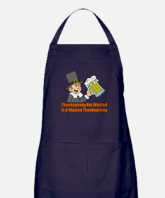 Thanksgiving Not Wasted Apron (dark)