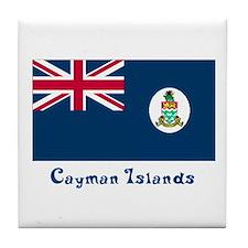Cayman Island Flag Tile Coaster