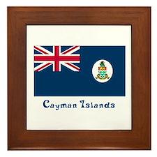 Cayman Island Flag Framed Tile