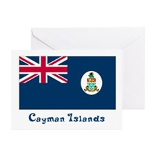 Cayman Island Flag Greeting Cards (Pk of 10)