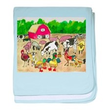 Barnyard Party baby blanket