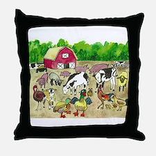 Barnyard Party Throw Pillow
