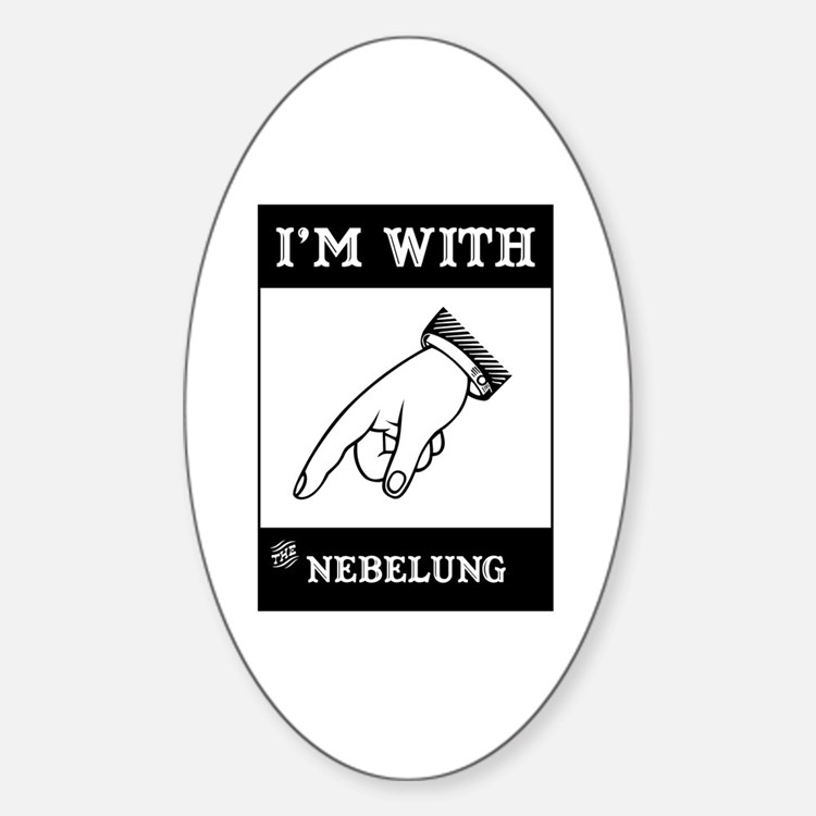 I'm With The Nebelung Oval Decal