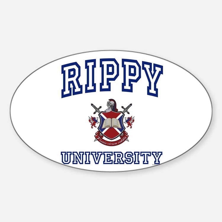 RIPPY University Oval Decal
