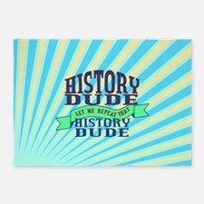 History Dude 5'x7'Area Rug