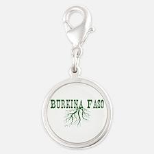 Burkina Faso Silver Round Charm