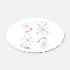 Let it Snow Oval Car Magnet