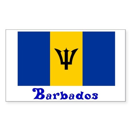 Barbados flag rectangle decal by janetsgirl for Barbados flag coloring page