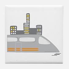 Fast Train Tile Coaster