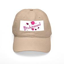 Retro Bridesmaid Baseball Baseball Cap Khaki