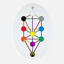 Cute Qabalah Oval Ornament
