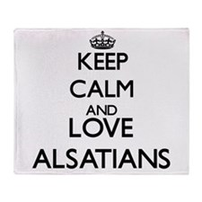 Keep calm and love Alsatians Throw Blanket