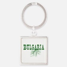 Bulgaria Roots Square Keychain